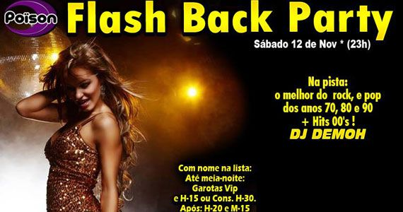 Poison Bar e Balada recebe a Flash Bakc party para animar o sábado Eventos BaresSP 570x300 imagem