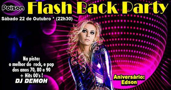 Flash Back Party com DJ Demoh animando o sábado do Poison Bar e Balada no sábado Eventos BaresSP 570x300 imagem