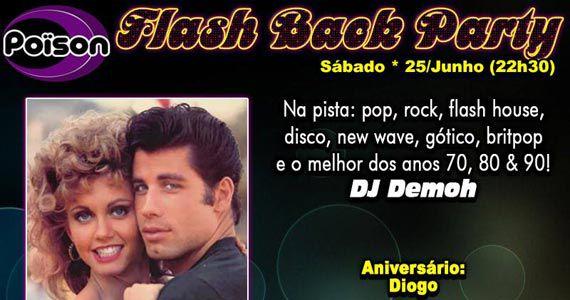 Flash Back Party agita o sábado com o melhor do flash back no Poison Bar e Balada Eventos BaresSP 570x300 imagem