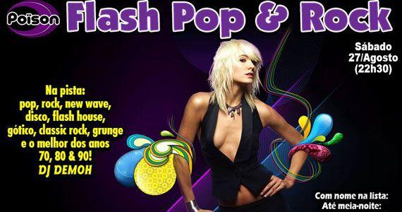 Poison Bar e Balada recebe a festa Flash Pop e Rock para animar a noite de sábado Eventos BaresSP 570x300 imagem