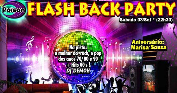Festa Flash Back Party com DJ Demoh nas pick-ups do sábado do Poison Bar e Balada Eventos BaresSP 570x300 imagem