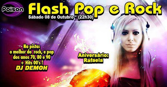 Festa Flash Pop e Rock com DJ Demoh nas pick-ups do Poison Bar e Balada no sábado Eventos BaresSP 570x300 imagem
