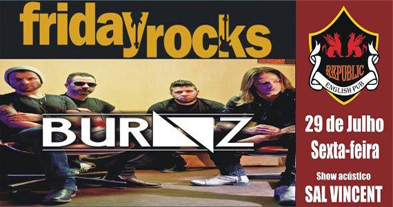 Banda Burnz e Sal Vincent agitam a noite com pop rock no Republic Pub Eventos BaresSP 570x300 imagem