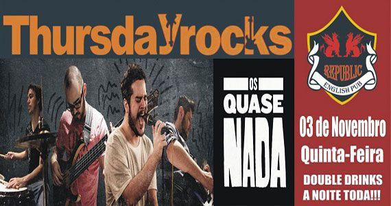 Banda Os Quase Nada animam a quinta-feira do Republic Pub Eventos BaresSP 570x300 imagem