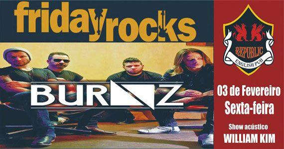 Banda Burnz e Sal Vincent comandam a noite no Republic Pub com pop rock Eventos BaresSP 570x300 imagem