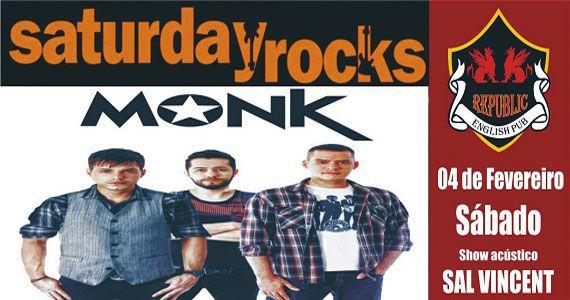 Banda Monk e Sal Vincent comandam a noite com pop rock no Republic Pub Eventos BaresSP 570x300 imagem