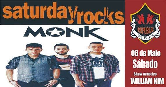 Banda Monk e cantor William Kim com o melhor do pop rock no Republic Pub Eventos BaresSP 570x300 imagem