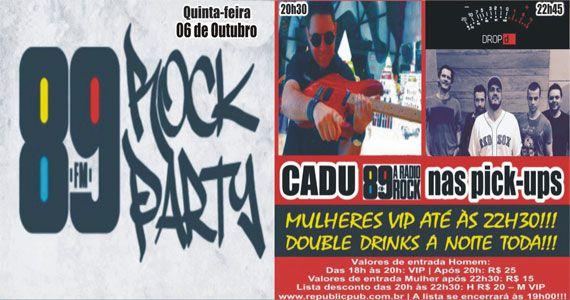 Banda Drop D e DJ Cadu comandam a noite com pop rock no Republic Pub Eventos BaresSP 570x300 imagem