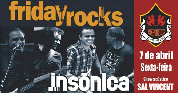 Sal Vincent e banda Insônica com clássicos do rock no Republic Pub Eventos BaresSP 570x300 imagem