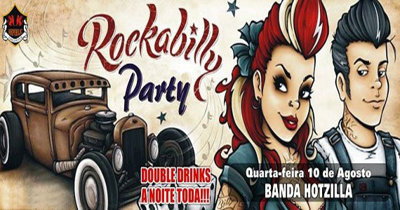 Rockabilly Party com banda Hotzilla animando a noite do Republic Pub Eventos BaresSP 570x300 imagem
