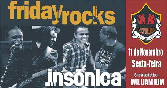 William Kim e Banda Insônica agitam a noite com muito rock no Republic Pub Eventos BaresSP 570x300 imagem