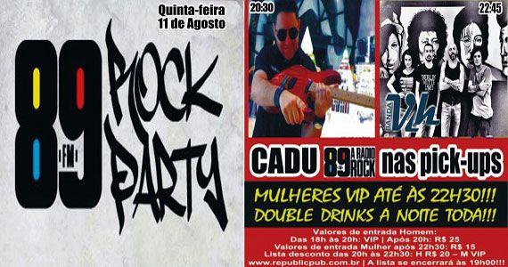 Banda Vih e DJ Cadu comandam a noite no Republic Pub com pop rock Eventos BaresSP 570x300 imagem