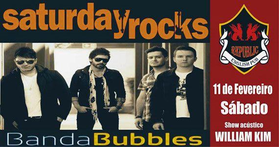 Banda Bubbles e William Kim comandam a noite de sábado com pop rock no Republic Pub Eventos BaresSP 570x300 imagem