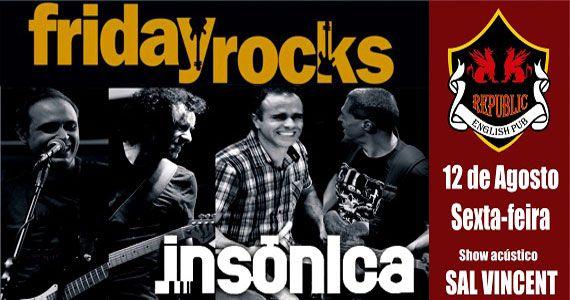 Banda Insônica e Sal Vincent agitam a noite com pop rock no Republic Pub Eventos BaresSP 570x300 imagem