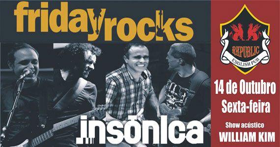 William Kim e banda Insônica agitam a noite com pop rock no Republic Pub Eventos BaresSP 570x300 imagem