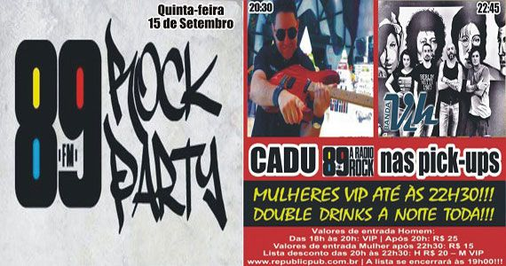 Banda Vih e DJ Cadu animam a quinta-feira com rock no Republic Pub Eventos BaresSP 570x300 imagem