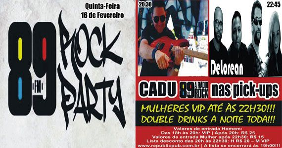 Banda Delorean e DJ Cadu comandam a 89 Rock Party do Republic Pub Eventos BaresSP 570x300 imagem