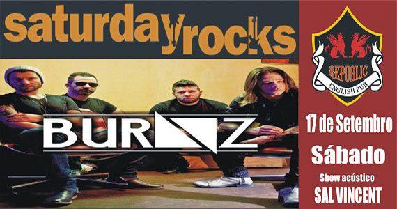 Sal Vincent e banda Burnz comandam a noitwe no Republic Pub Eventos BaresSP 570x300 imagem