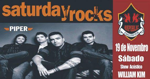 Banda Piper e William Kim comandam o sábado com clássicos do rock no Republic Pub Eventos BaresSP 570x300 imagem