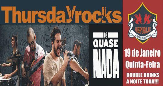 Banda Os Quase Nada se apresentam com pop rock no Republic Pub BaresSP