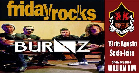 Banda Burnz e Sal Vincent comandam a sexta-feira com pop rock no Republic Pub Eventos BaresSP 570x300 imagem
