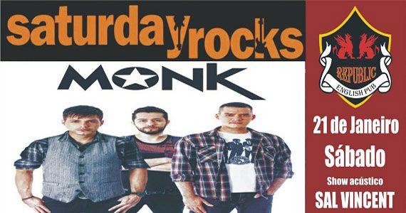 Sal Vincent e banda Monk comandam a noite com pop rock no Republic Pub Eventos BaresSP 570x300 imagem