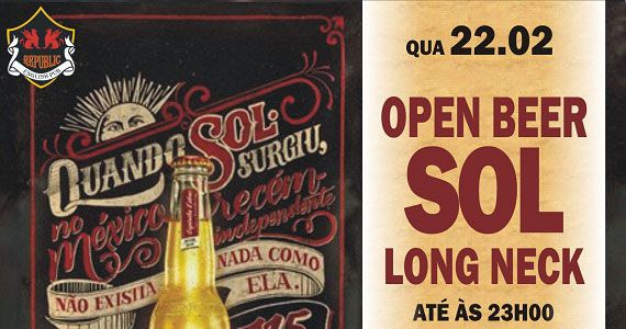 Open Bar Sol e William Kim animam a quarta-feira do Republic Pub Eventos BaresSP 570x300 imagem