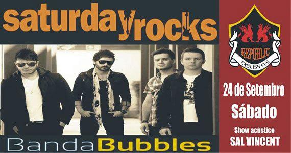 Sal Vincent e banda Bubbles comandam a noite com clássicos do rock no Republic Pub Eventos BaresSP 570x300 imagem