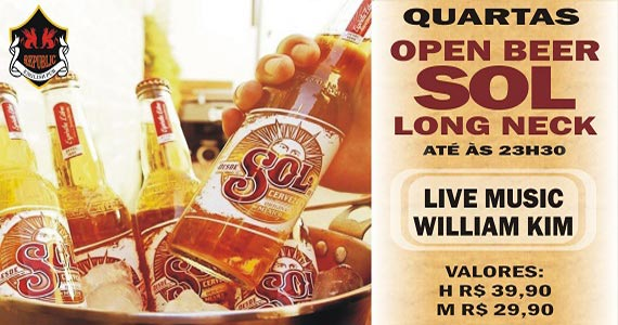 Cantor William Kim agita o happy hour com Open Sol no Republic Pub Eventos BaresSP 570x300 imagem