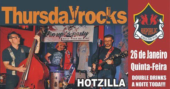 Banda Hotzilla comanda a noite com pop rock no palco do Republic Pub Eventos BaresSP 570x300 imagem