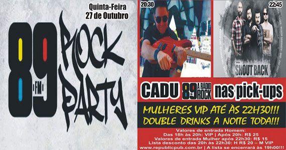 Banda Shout Back e DJ Cadu comandam a quinta-feira no Republic Pub Eventos BaresSP 570x300 imagem