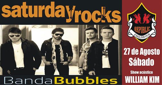 Banda Bubbles e William Kim animam a noite com pop rock no Republic Pub Eventos BaresSP 570x300 imagem