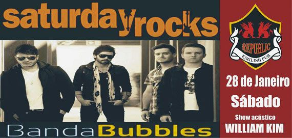 William Kim e banda Bubbles comandam a noite com clássicos do rock no Republic Pub Eventos BaresSP 570x300 imagem