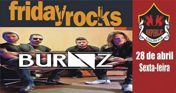 Banda Burnz comanda a noite com o melhor do rock no Republic Pub Eventos BaresSP 570x300 imagem
