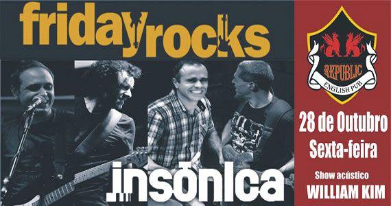 William Kim e banda Insônica comandam a sexta com pop rock no Republic Pub Eventos BaresSP 570x300 imagem