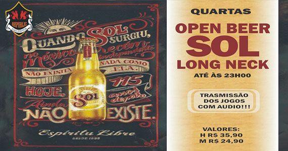 Transmissão do futebol com open bar de cerveja Sol no Republic Pub Eventos BaresSP 570x300 imagem