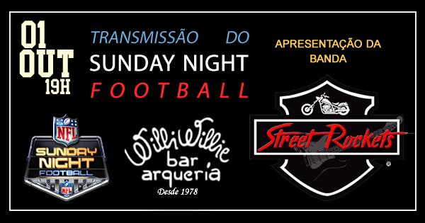 Programação - Banda Street Rocket + Sunday Night Football