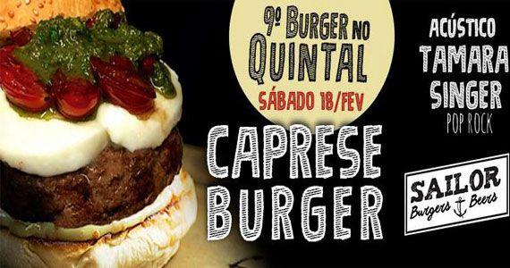 9º Burger no Quintal acontece neste sábado com acústico Tamara Singer no Sailor Burger Eventos BaresSP 570x300 imagem