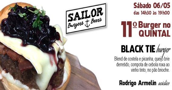 Sailor Burgers realiza 11º edição do projeto Burger no Quintal com chef Felipe Bellim Eventos BaresSP 570x300 imagem
