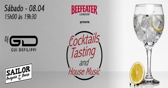Sailor Burger realiza novo projeto Cocktails Tastings com drink e música Eventos BaresSP 570x300 imagem