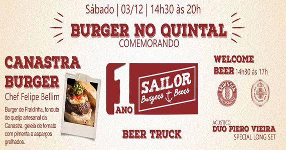 Sailor Burger completa 1 ano com edição especial do projeto Burger no Quintal Eventos BaresSP 570x300 imagem