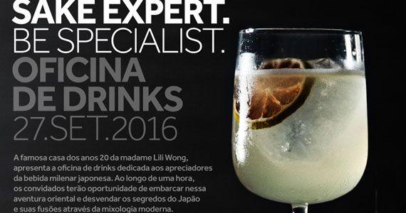 Drosophyla Bar arma Oficina de Drinque gratuita para comemorar o Dia Mundial do Sake Eventos BaresSP 570x300 imagem