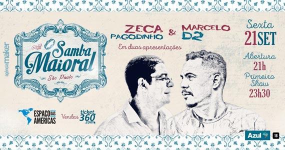 Espaço das Américas reúne Zeca Pagodinho e Marcelo D2 no show Samba Maioral Eventos BaresSP 570x300 imagem