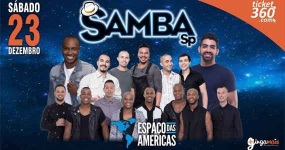 Samba SP com Dilsinho, Thiaguinho, Turma do Pagode e Sorriso Maroto no Espaço das Américas Eventos BaresSP 570x300 imagem