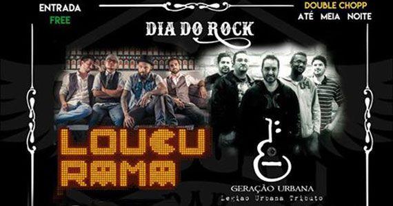 Dia do Rock com banda cover do Legião Urbana e Loucurama no santo Rock Bar Eventos BaresSP 570x300 imagem
