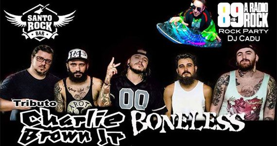 Tributo Charlie Brown Jr. com a banda Boneless no Santo Rock Bar Eventos BaresSP 570x300 imagem