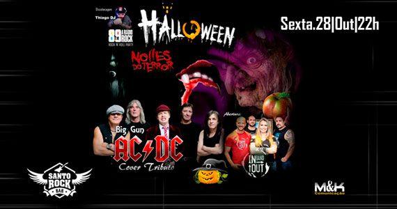 Halloween com decoração especial e bandas de rock no Santo Rock Bar Eventos BaresSP 570x300 imagem