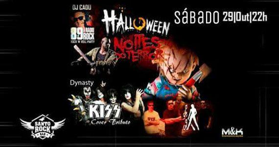 Bandas Dynasty Kiss Cover e Sim Senhora comandam o Halloween do Santo Rock Bar Eventos BaresSP 570x300 imagem