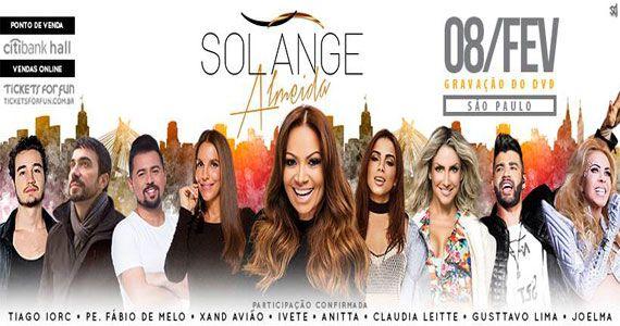 Solange Almeida grava DVD solo com pop, sertanejo e forró no Citibank Hall Eventos BaresSP 570x300 imagem