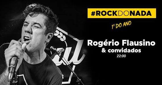 Cantor Rogério Flausino apresenta #RockdoNada no palco do Soul Sports Bar Eventos BaresSP 570x300 imagem